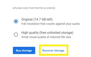 recover storage