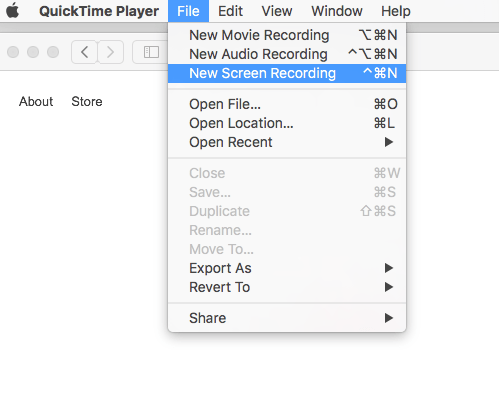 Quicktime Record
