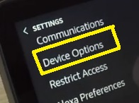 device options