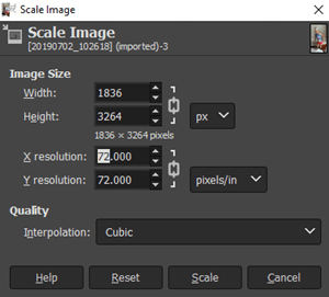 How to Check DPI of Image scale image