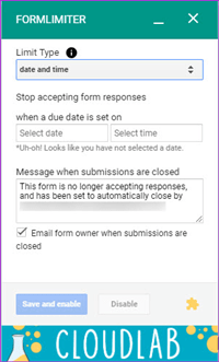 How to Limit Responses in Google Forms FormLimiter