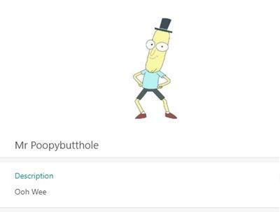 Mr Poopybutthole