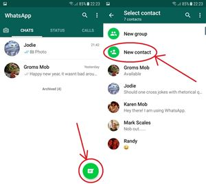 Контакты Whats App