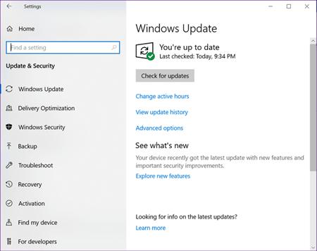 Windows Upadet