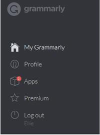 grammarly dashboard