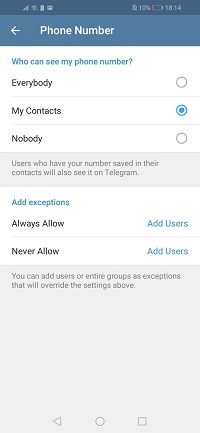 how to add a contact by username