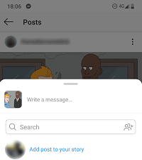 add post to story