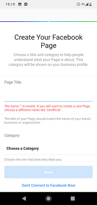 create your fb page