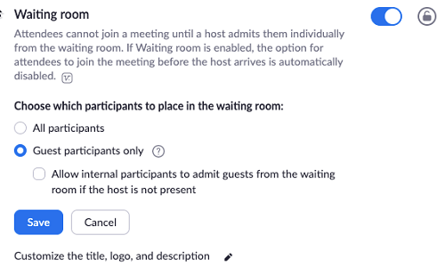 Zoom Waiting Room