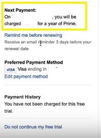 next payment