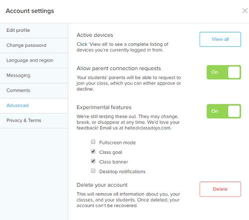 How to Delete Teacher Account on ClassDojo - Account Settings