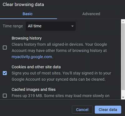 Netflix Error Code M7353 - How to Fix - Clear browsing data