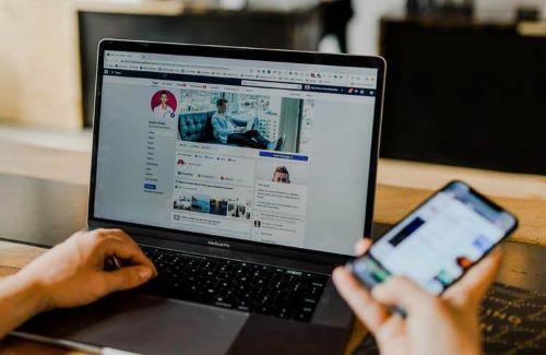Значок Facebook на рабочем столе