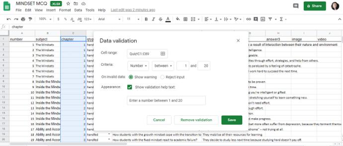 data validation - numbers