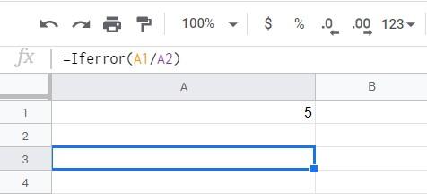 #div0 in google sheets