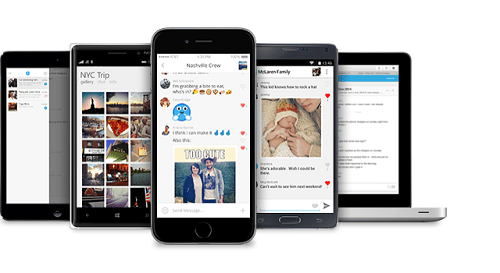 Send a photo or photo to GroupMe