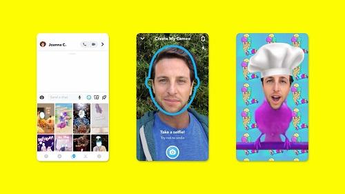 Snapchat камео