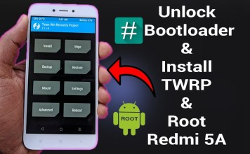 TWRP 3.2.1 Recovery for Xiaomi Redmi 5A