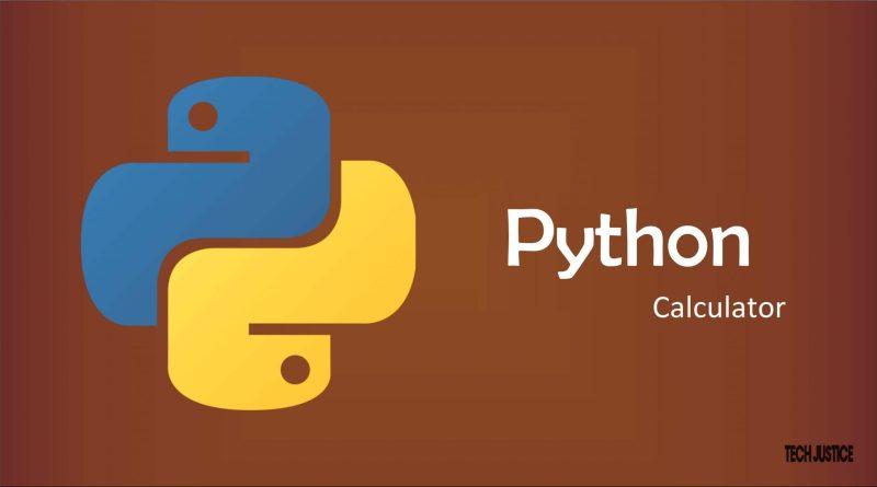 python-calculator tech justice