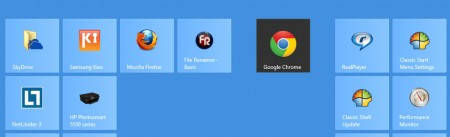 organize windows 8 tiles in groups - first tile on group