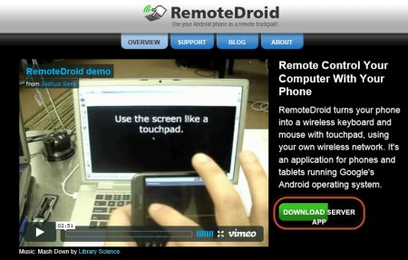 use android as mouse and keyboard - website