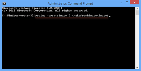 Difference Between Refresh and Reset - create image command