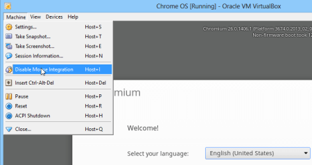 How to run Chrome OS from USB - disable mouse integration
