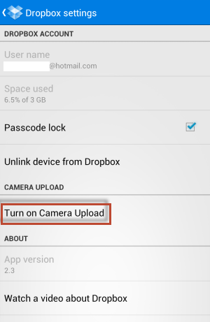 backup your android folders to dropbox - 01