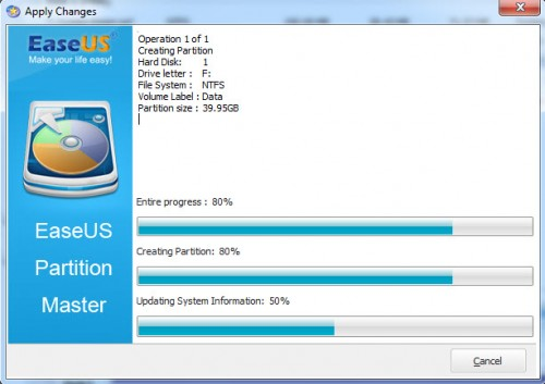 EaseUS Partition Master Home Edition - 10