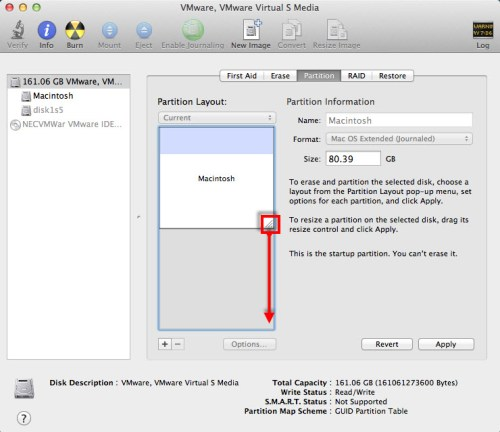 resize mac partitions - 11