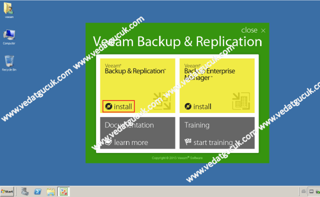 Veeam Backup Replication Kurulum