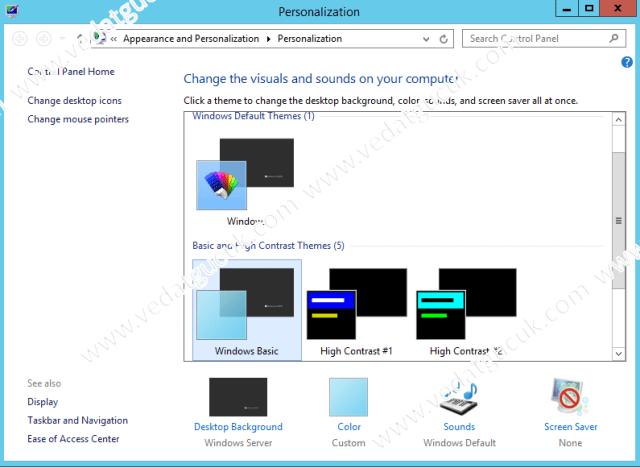 Windows Server 2012 R2 Masaüstü İkonlarının AktifleştirilmeWindows Server 2012 R2 Masaüstü İkonlarının Aktifleştirilme