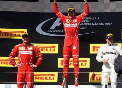 Macaristan'ın Galibi Ferrariden Vettel Oldu
