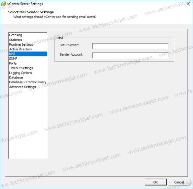 Vmware Vcenter Mail Gönderme Ayarı