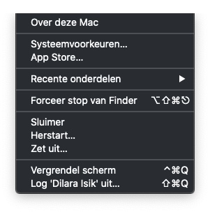 Exit Finder from the Apple menu