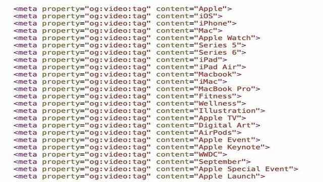 Apple event video refers to Apple Watch Series 6 in source code