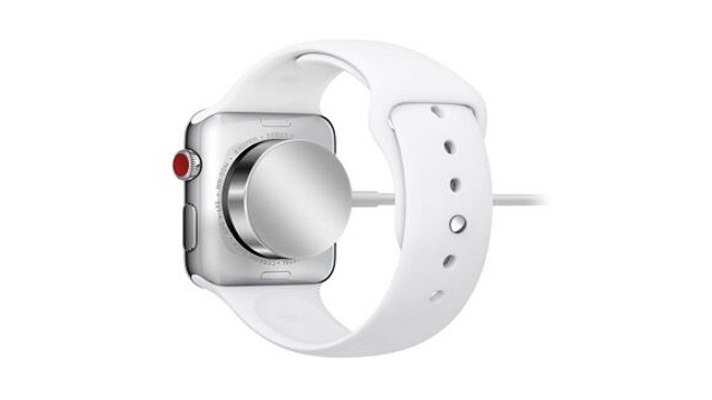 This is how an Apple Watch is charged.