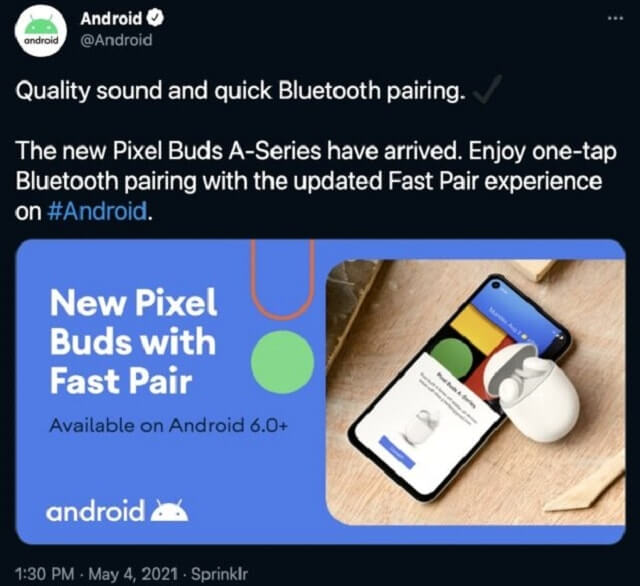 Pixel Buds A leaked