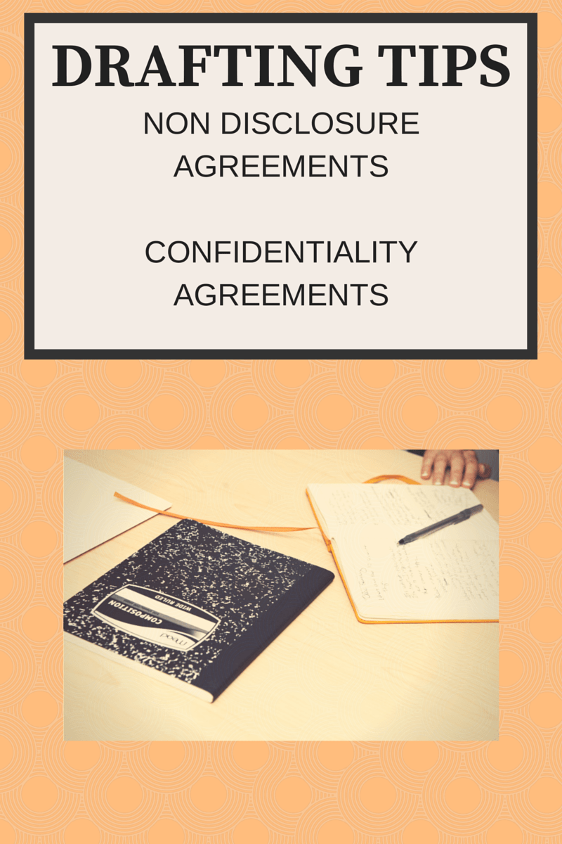 How To Draft A Non Disclosure (Confidentiality) Agreement