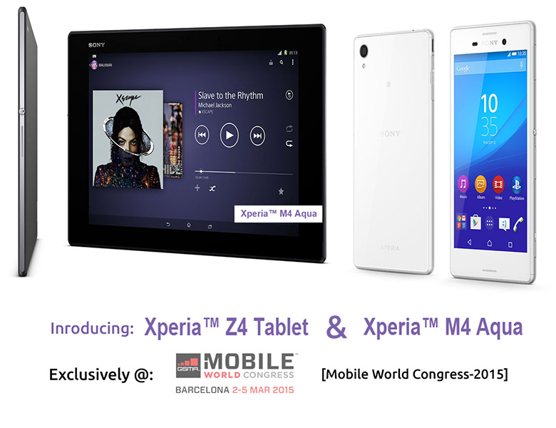 Sony Xperia Z4 and M4 aqua