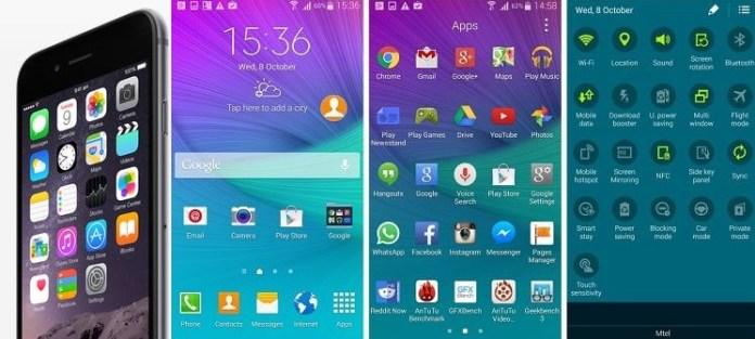 iOS and TouchWiz UI