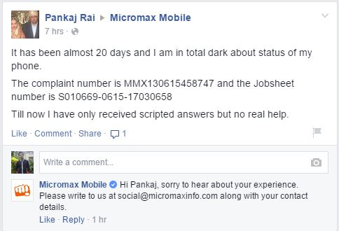 Can Micromax step into the world market with it's poor quality customer service? 1