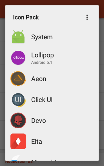 Select an icon pack