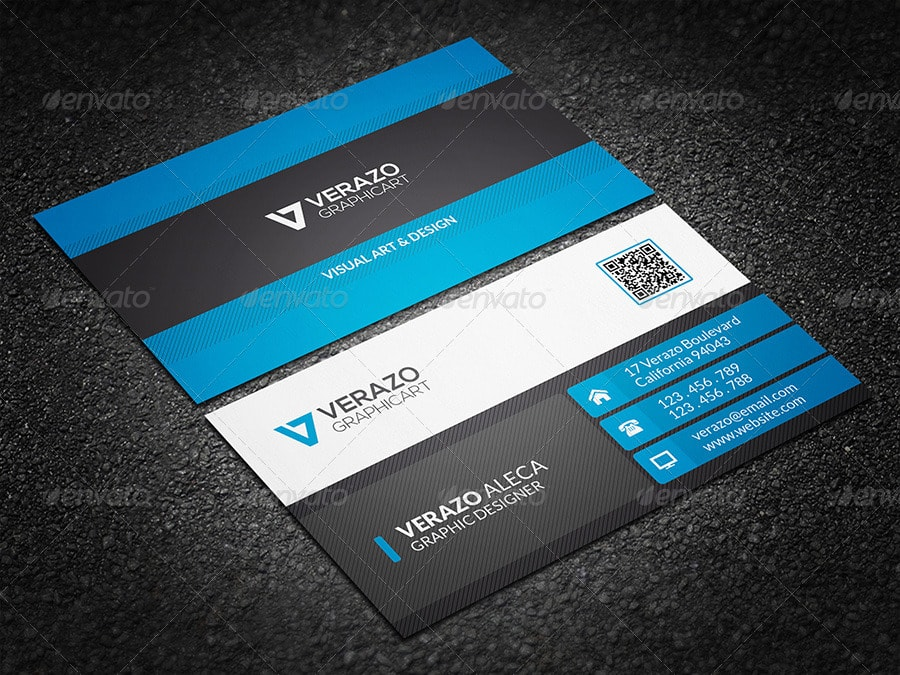 25 Best Business Card Templates  Photoshop Designs  2017 Corporate Business Card 07 Template