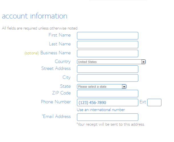 bluehost personal_account_infor