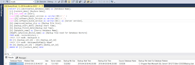 DB recovery 1 SQL Script: - How to find the database restoring history of SQL Server databases DBA Scripts