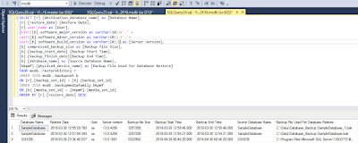 DB recovery 7 SQL Script: - How to find the database restoring history of SQL Server databases DBA Scripts