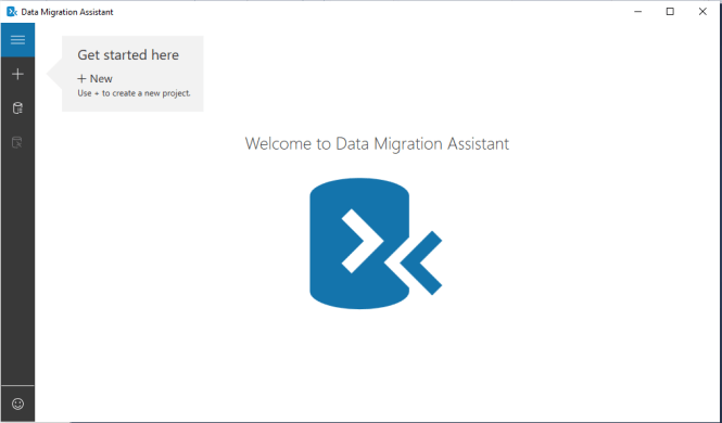 Figure-1 Welcome to Data Migration Assistant