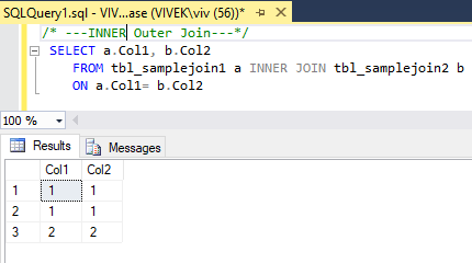 InnerJoin 2 SQL Joins Tricky Interview Questions