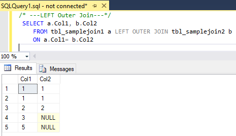 LeftOuterJoin 2 SQL Joins Tricky Interview Questions